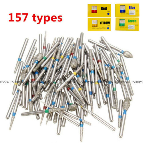 157 Types DIA-BURS Diamond Burs for Dental High Speed Handpiece 5Pcs/pack