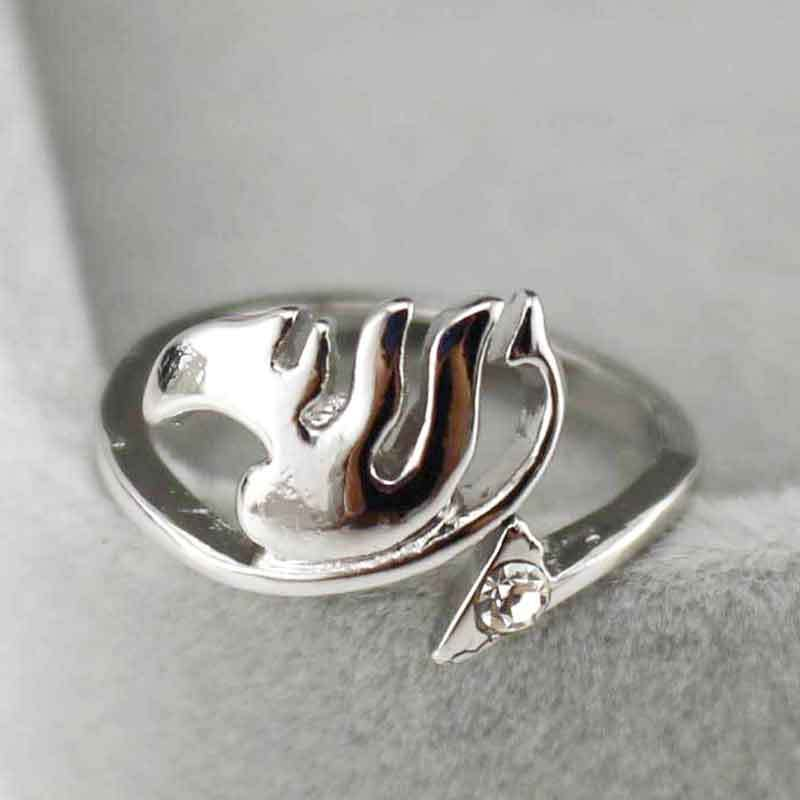 New Anime Fairy Tail Guild Logo Bornze Metal Finger Ring Cosplay Gift US Size 8
