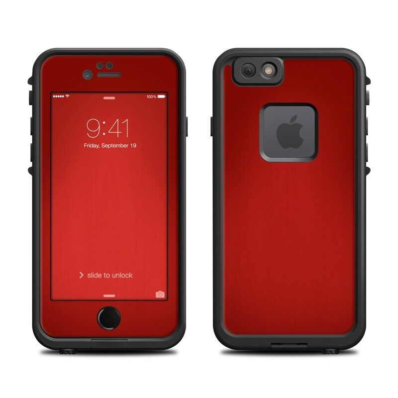 Skin for LifeProof FRE iPhone 6/6S - Red Burst - Sticker Decal