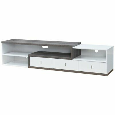 """Furniture of America Roxi 83"""" TV Stand in Gray and White"""