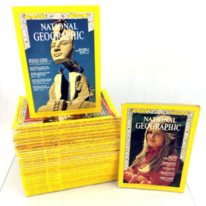 Lot 32 National Geographic Magazines Issues 1969-2013 60s 70s 90