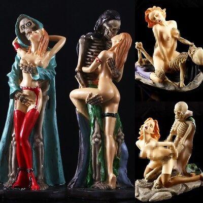 New Women Ghost Sex Skeleton Skull Halloween Statue Resin Gifts Home Decor Gift - Modern Halloween Decor