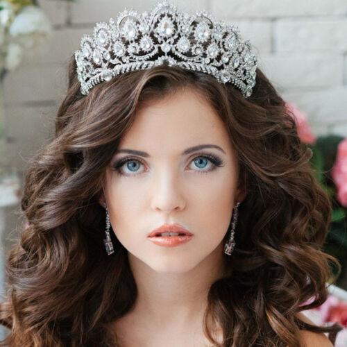 Crystal Wedding Tiara Bridal Crown Jewelry Prom Princess Queen Diadem