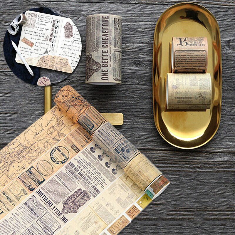 Vintage Map Washi Tape Paper Sticky Adhesive Sticker Paper Scrapbooking Decor