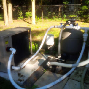 OUTGROUND COMPLETE POOL SYSTEM-ENSEMBLE COMPLET PISCINE HORS TER