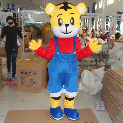 Tiger Mascot Costume Adult Cartoon Party Dress Outfit Cosplay Suit Animal - Adult Tiger Suit