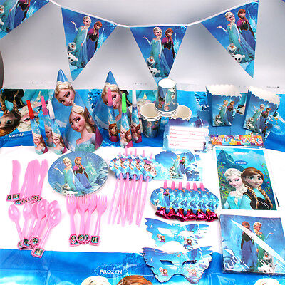 Frozen Theme Birthday Party Elsa Anna Supplies Favor Tableware Kids Decor Gift](Frozen Birthday Party Decorations)