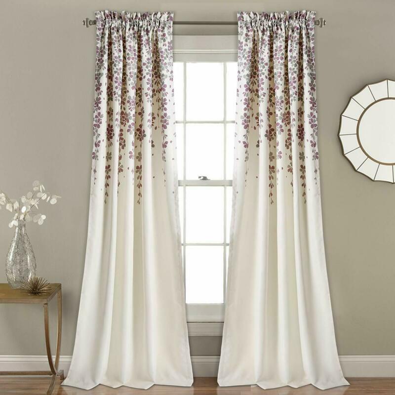 lush decor weeping flowers curtains room darkening