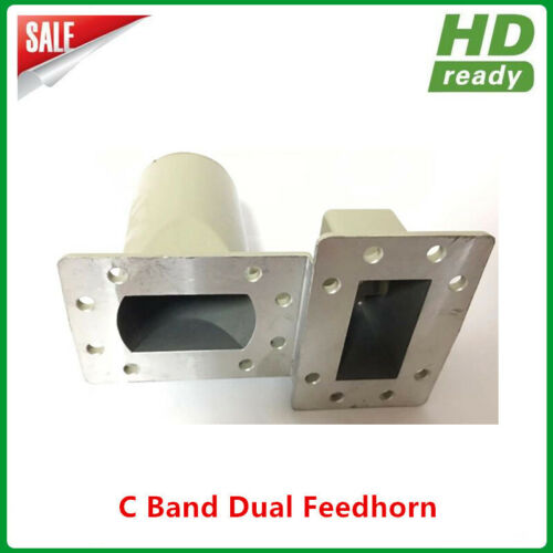 C band dual polarity feedhorn with scalar ring