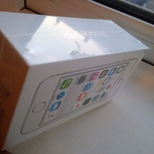 Silver/White iPhone 5s in factory sealed box