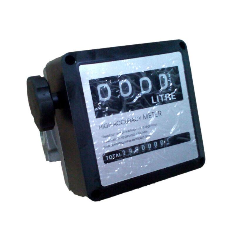 """FM-120 4 Digital Diesel Gasoline Fuel Petrol Oil Flow Meter Counter Gauge 1"""" US"""