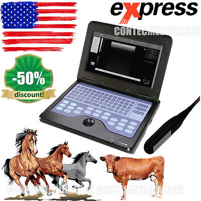 Veterinary Portable Ultrasound Scanner 7.5m Rectal Vet Machine Cowhorseanimal