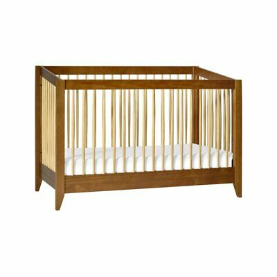 Babyletto Sprout 4-in-1 Convertible Crib - Chestnut and Natu