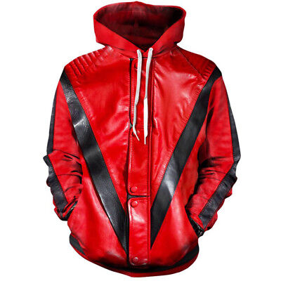 New Women/Men Michael Jackson Costume Funny 3D Print Hoodie Sweatshirt - Michael Jackson Woman Costume