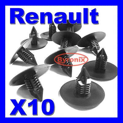 RENAULT WHEEL ARCH LINER SPLASH GUARD TRIM SPRUCE CLIPS FIR TREE 35mm HEAD X10