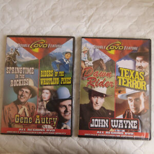John Wayne & Gene Autry movies on DVD