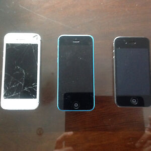 3 IPhones for sale Various Condition