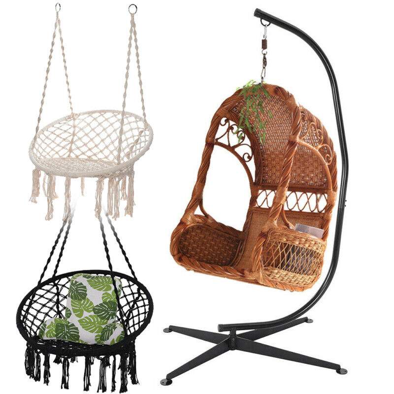 Combo Hammock with C Frame Stand Set Portable Hanging Chair