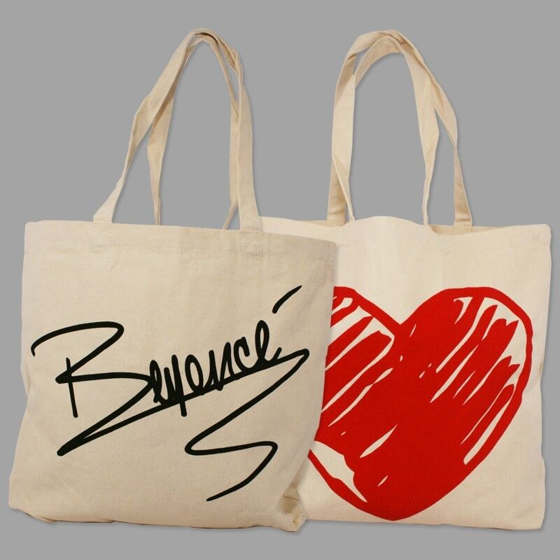 BEYONCE RARE MRS CARTER WORLD TOUR SIGNATURE LOVE VIP TOTE BAG ON RUN FORMATION