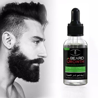 Men Care Natural - 100% Natural Beard Growth Oil Balm Wax Leave-in Conditioner Beard Hair Care Oil
