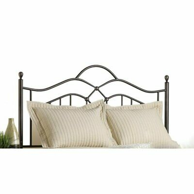 king metal spindle headboard with rails in