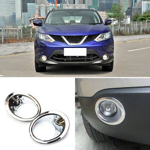 For Nissan Qashqai 2007-2015 Auto Front Bumper Front Left+Right Fog Lights Cover