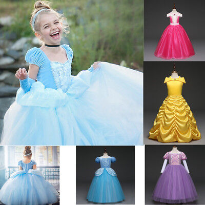 Disney Princess Kids (New Kids Disney Princess Costume Girls Cosplay Party Halloween Fancy)