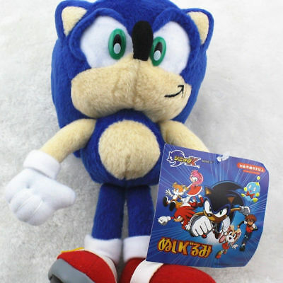 New Sonic The Hedgehog Blue Anime Plush Soft Stuffed Toy Doll 8 Inch Gift