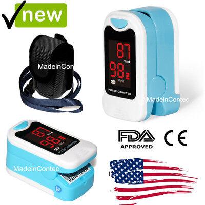 Finger Pulse Oximeter LED Blood Oxygen Heart Rate Monitor Factory Sale LED USPS