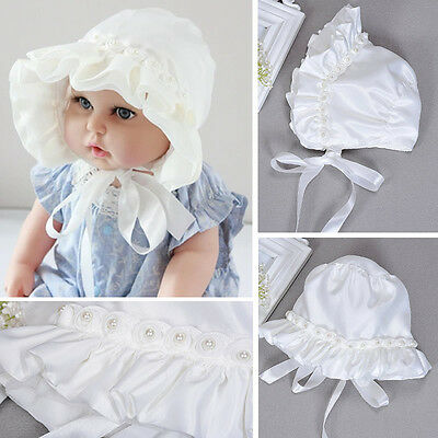 Baby Girl Newborn Caps Toddler Pearl Lace Hat Cap Beanie Bonnet Hair Accessories for sale  Shipping to Ireland