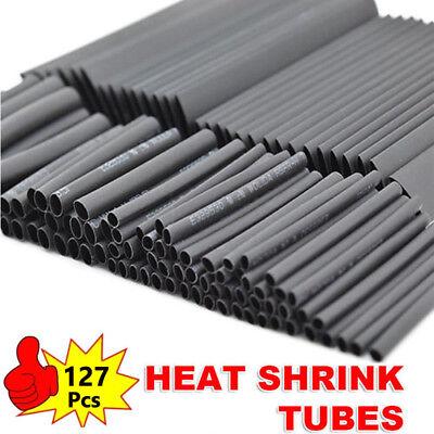 127pcs Glue Weatherproof Heat Shrink Sleeving Tubing Tube Assortment Kit 21