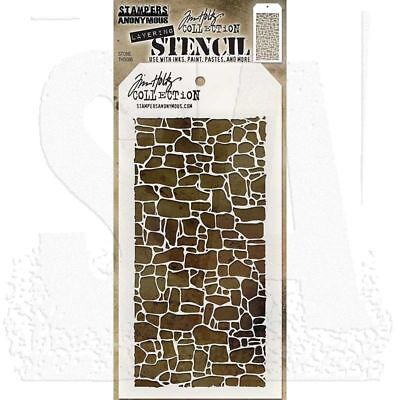 Tim Holtz Stampers Anonymous HEARTS Stencil  THS017 new