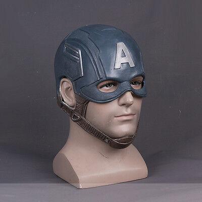 Avengers Captain America Steven Cos Helmet Halloween Soft Latex MasK Props USA