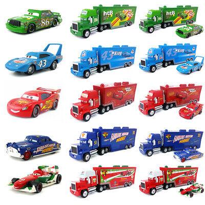 ck Racer's Hauler Truck & Racers Toy Car 1:55 Kids Gift New (Disney Toy Cars)