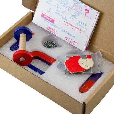 1set Ferrite Magnet Kit Education Science Experiment Bar Horseshoe Ring