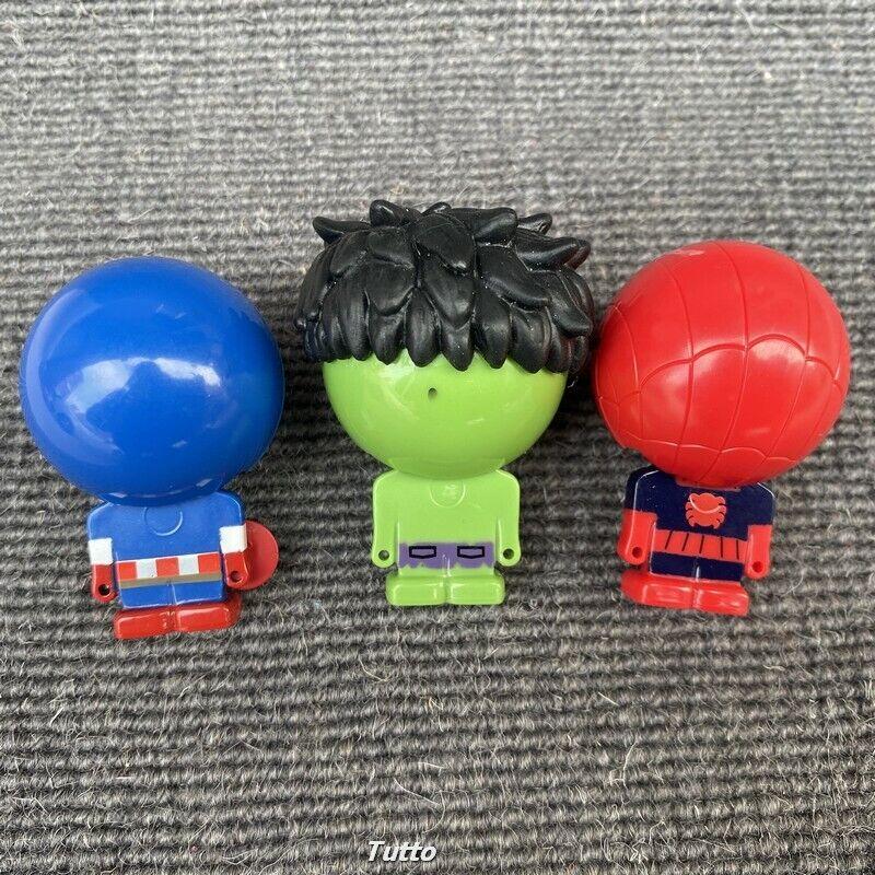 Lot 3 Wall Walker Toy Marvel Avenger Robots Hulk Spider Man Captain America Toys