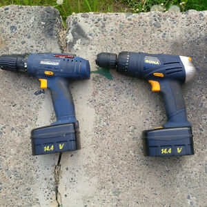 Two 14.4V Drills
