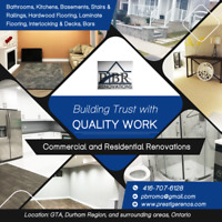 RENOVATIONS - KITCHEN, BATHROOMS, FLOORING, CONTRACTOR, COMM