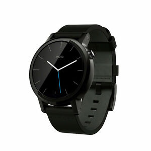 Motorola Moto 360 (2nd Gen) 42mm - Black with Black Leather