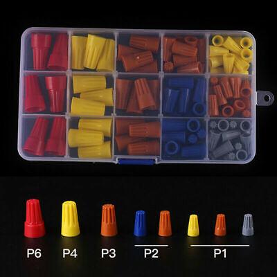 102pcs Wire Connector Twist Electrical Nut Spring Cap Assortment Kit Set P1p6
