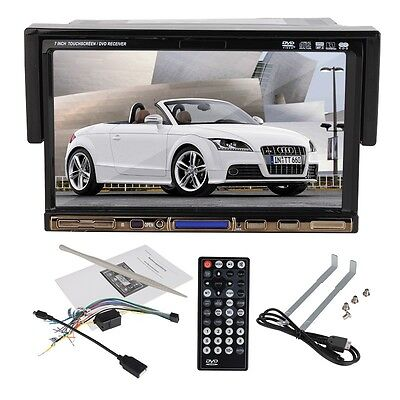 "7"" Inch In Dash Single 1 Din Car CD DVD Player Touch Stereo USB SD Radio Audio on Rummage"
