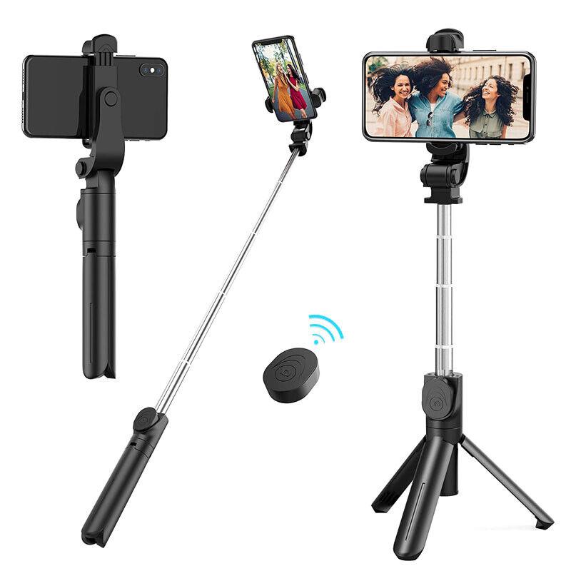 Adjustable Remote Selfie Stick Tripod Desktop Stand Desk Hol