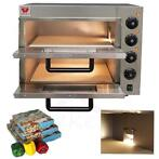 RVS pizzaoven steenoven turkse pizza oven 230 Volt-3000W