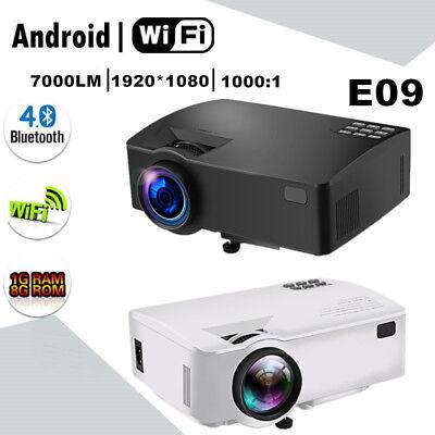 4K 1080P HD Wifi Android BT 3D LED Projector Multimedia HDMI/USB/AV/VGA/TF