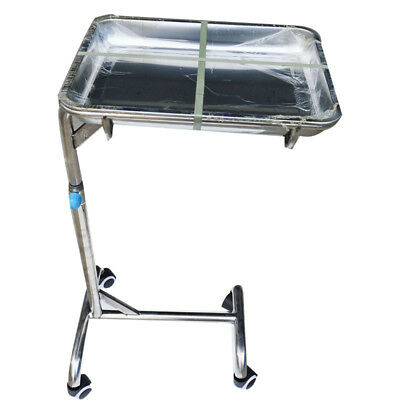 Instrument Hospital Stand Tray Patient Room Double Post -trolley New