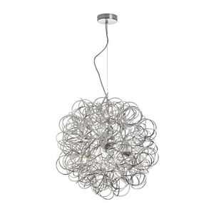 Crazy Hair Day Chrome Chandelier