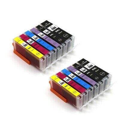 6Pk PGI-280 XXL CLI-281 XXL Ink For Canon Pixma TS6120 TS9120 TS8120 TR7520 9520