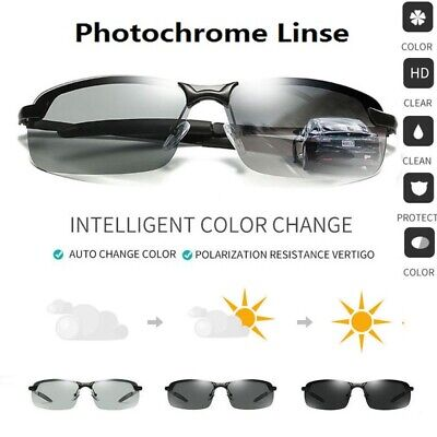 Photochromic Polarized Men Sunglasses Glasses Outdoor Sports Driving