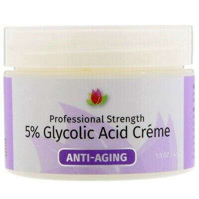 Glykolsäure-creme (5% Glykolsäure Creme, Natur Glykol Säure mit Botanisch Extrakte, 42g)