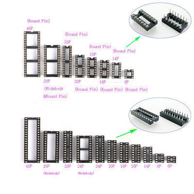 2.54mm Ic Socket Dil Dip 6p8p14p16p18p20p24p28p40p Pin Ic Chip Sockets
